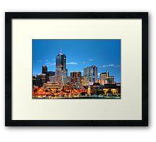 Downtown Denver at Dusk HDR Framed Print
