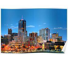 Downtown Denver at Dusk HDR Poster
