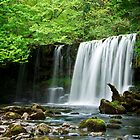 Upper Gushing Falls, Wales by Giles Clare