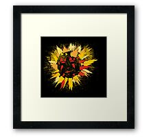 black sun Framed Print