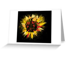 black sun Greeting Card