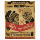 Stare Down Contest Vintage Stickers by zerobriant