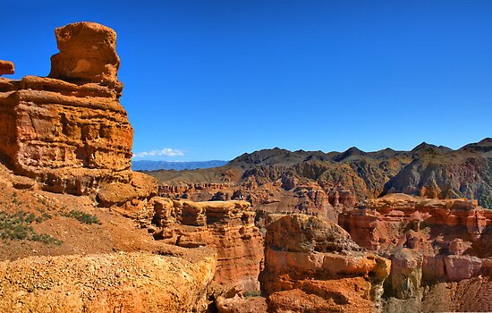 canyon  in Central Asia by Medeu