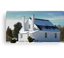 House in Winter Snow Canvas Print