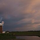 Sunset at Horsey Windpump by Jane Corey