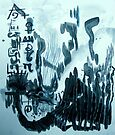 Abstract Scribble by evon ski