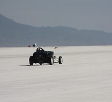 Roadster on her own, Bonneville Speed Week 2010 by ponchoman