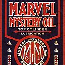 Marvel Mystery Oil vintage sign rusted version by htrdesigns