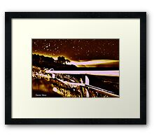 Sunset HDR Framed Print