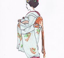 Geisha in Nara - Side View by anajayarts