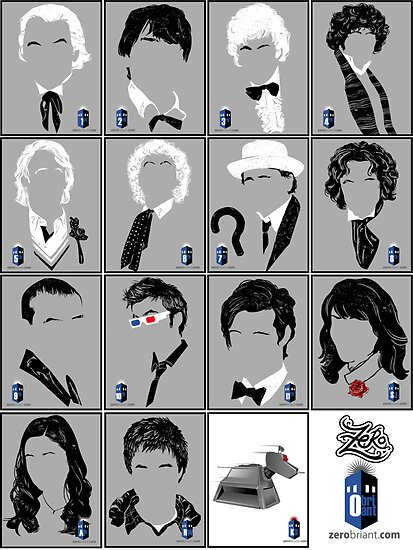 The Eleven Doctors and His Latest Companions by zerobriant