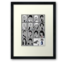 The Eleven Doctors and His Latest Companions Framed Print