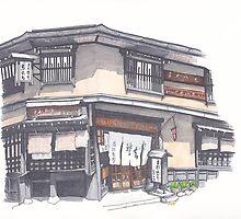 Soba Shop in Takayama by anajayarts