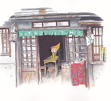 Dango Shop in Takayama by anajayarts