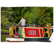 Narrow Boat on the River Thames Poster