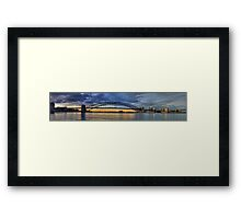 A Bridge Goes Over It #2 - (55 Exposure HDR Panorama)- The HDR Experience Framed Print