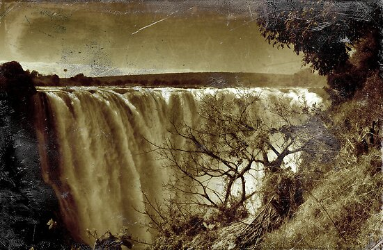 Victoria Falls - Thomas Baines-style by Sharon Bishop