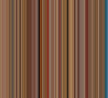 Moviebarcode: The Royal Tenenbaums (2001) [Simplified Colors] by moviebarcode
