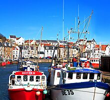Prawn Boats in Pittenweem Harbour by GillBell