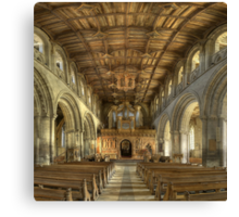 Nave, St David's Cathedral, Pembrokeshire, Wales Canvas Print