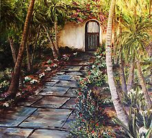Garden Gate to Rosemary's Cottage by Janis Lee Colon