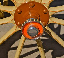 Hupmobile Wood Wheel w/bearing cap by ponchoman