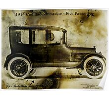1914 Cadillac Limousine Poster
