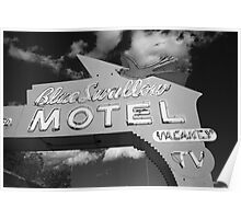 Route 66 - Blue Swallow Motel Poster