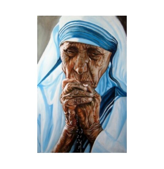 Oil Paintings: Mother Teresa by Hidemi Tada