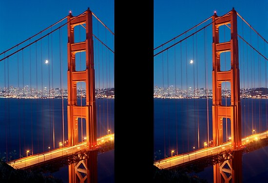 golden gate bridge at night. the Golden Gate Bridge by