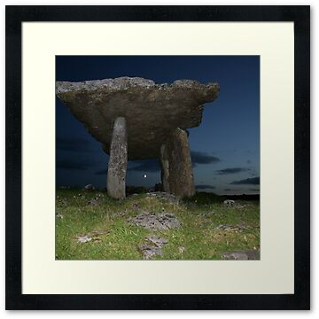 the Poulnabrone Dolmen in The Burren in county Clare