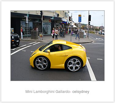 Mini Lamborghini Gallardo by