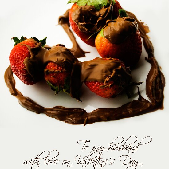 Chocolate Strawberry Valentine's Card - Husband