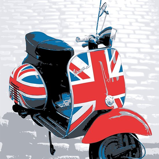 Vespa Scooter - Mod Decoration