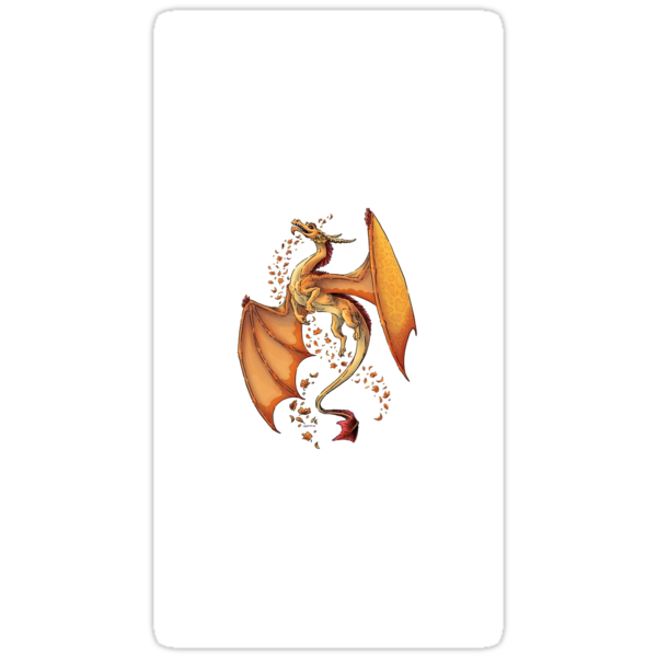 Dragon of Autumn sticker at RedBubble.com