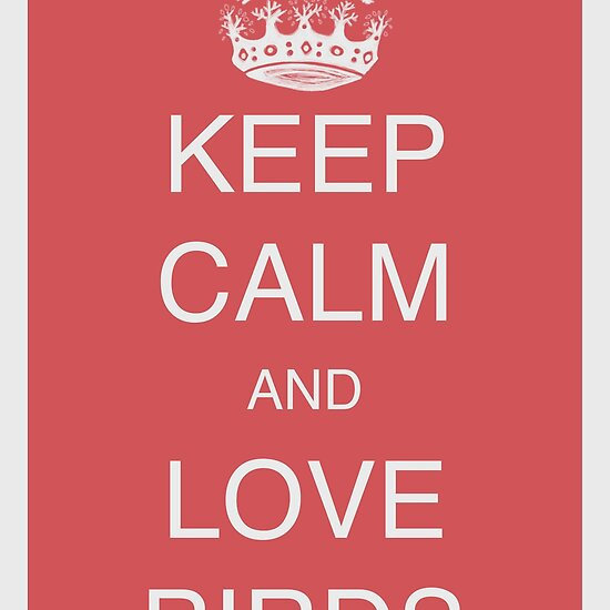 Keep calm and love birds - Old red belongs to the following groups: