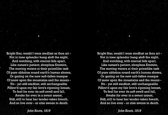 john keats poem bright star analysis