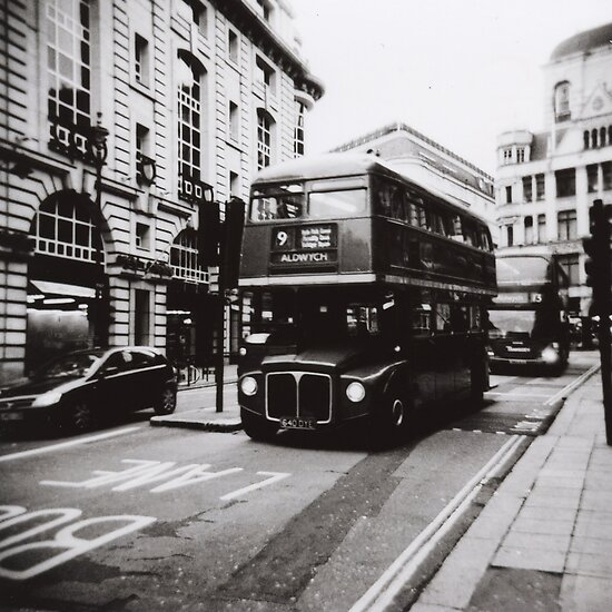 Toy Camera: London bus 9 Aldwych by Mattias Olsson
