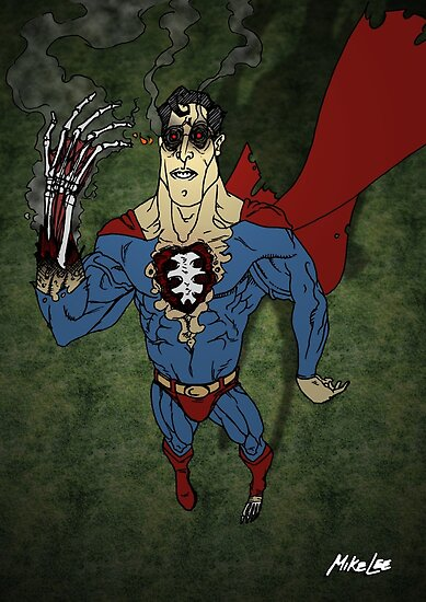 "Comic Art: Super Zombie ""HOT, HOT, HOT!!"" - Coloured by Mike Lee"