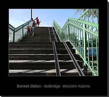 Bishkek Station - footbridge
