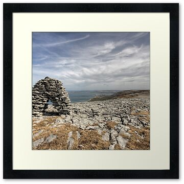 Scenic view overlooking Ballyvaughan and Galway bay at Black Head in The Burren