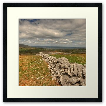 View looking towards Ballyvaughan and Fanore in The Burren in county Clare