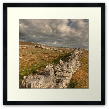 Stone walls in The Burren in county Clare near Ballyvaughan village