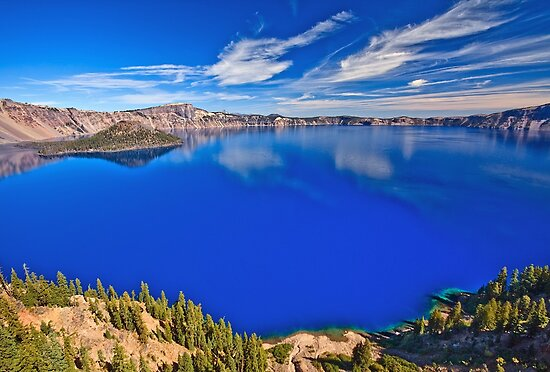 deep blue lake or crater lake essay Photo essay: oregon's crater lake june 1 at 1,943 feet deep, it is the deepest lake in the united view from an observation deck on the road brilliant blue.