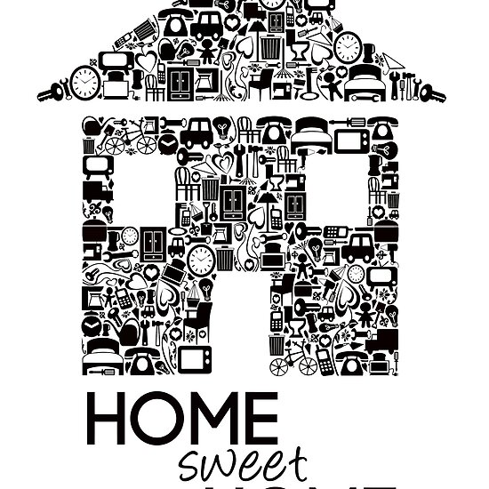 Pip Pip Hooray: quot;Home Sweet Homequot; Wall Print
