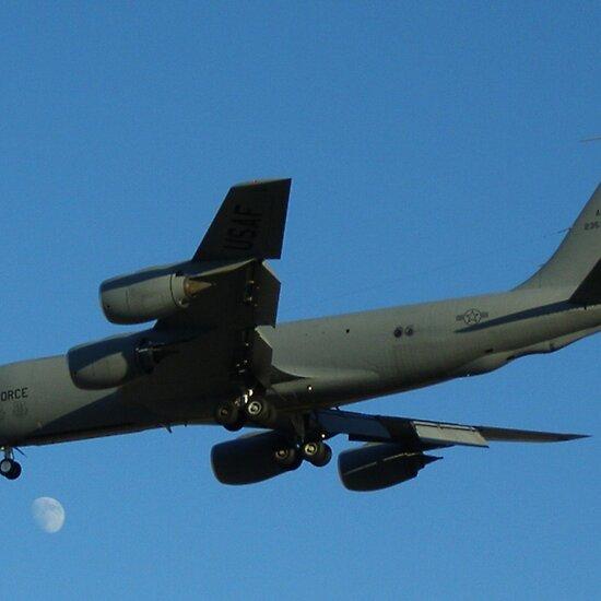 KC-135 Stratotanker lands at Nellis Air Force Base during Red Flag 10-1