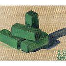 Green Blocks by Amy-Elyse Neer