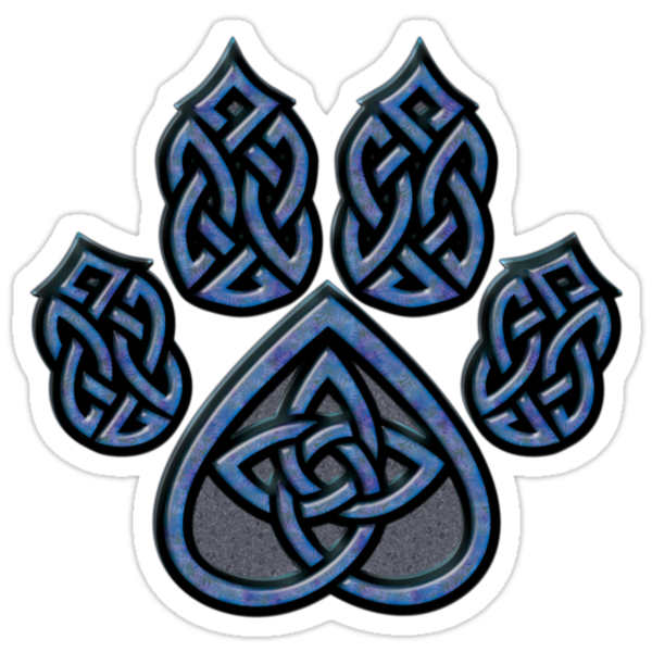 Celtic Knot Pawprint - Blue by CGafford Follow