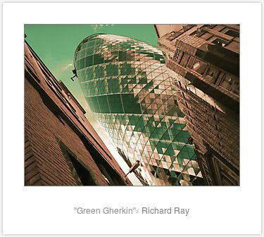 "Laminated Print: ""Green Gherkin"""