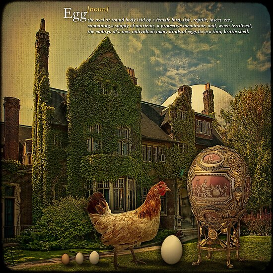 "Egg... or solving the main philosophical problem."" Fine Art Print ..."